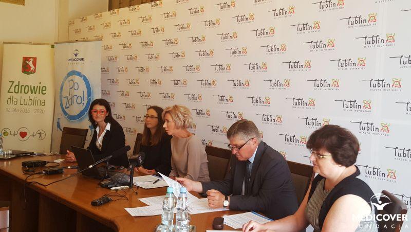 Lublin - Konferencja prasowa PoZdro!