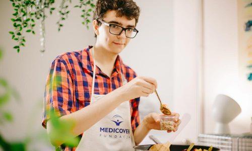 Maciej Wąs na warsztatach kulinarnych PoZdro!